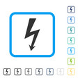 high voltage framed icon vector image