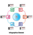 Infographics element six options vector image
