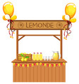 isolated lemonade stall on white background vector image