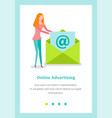 landing page template with woman folding vector image