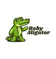 logo baby alligator simple mascot style