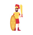 man or ares greek god stands in armor holding vector image