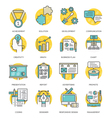 modern flat line icon concept business vector image