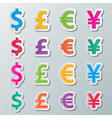 money symbol vector image