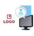 monitor flat icon vector image vector image