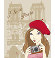 paris girl vector image vector image