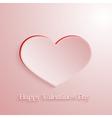 Pink love heart vector image vector image