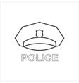 Police cap outline icon Serviceman's hat symbol vector image vector image