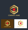 polygon vision business logo vector image