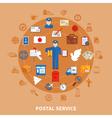 Postal Communication Round Design vector image vector image