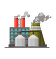 power chemical or refinery plant industrial vector image vector image