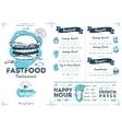 Restaurant cafe fast food menu template vector image