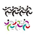 running race symbols vector image vector image