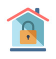 safe house flat vector image vector image