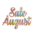 sale august text retail message vector image vector image