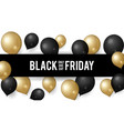 sale black friday shopping discount banner vector image