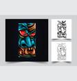 satan big face artwork vector image