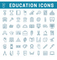 school and education editable icons vector image