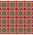 seamless mosaic of geometric ornament with colored vector image vector image