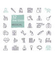 set medical icons linear symbols on the vector image vector image