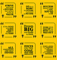 Set of motivational quotes about action goals vector image vector image