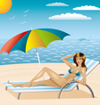 sexy woman in bikini on the beach vector image vector image