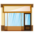shop design with banner on top vector image vector image