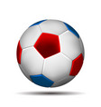 soccer ball in color of russian flag i vector image