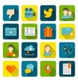 Social icons flat set vector image vector image