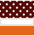 Thanksgiving retro frame with polka dots vector image