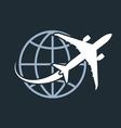 Travel around the world - airplane flying around