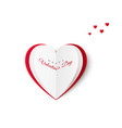 valentine greeting card with the inscription of a vector image vector image