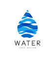 water logo design corporate identity template vector image vector image