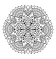 webcircular pattern mandala for coloring on a vector image vector image