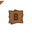 wooden alphabet or font blocks with letter b vector image vector image