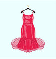 red party dress with decor vector image