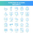 25 green and blue futuro security icon pack vector image vector image