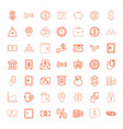 49 money icons vector image vector image