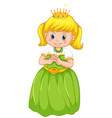a girl wearing princess costume vector image