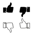a set of good or bad news like or dislike icons vector image