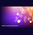 abstract hexagonal background futuristic vector image vector image