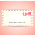 air mail envelope for valentines day vector image