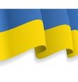Background with waving Ukrainian Flag vector image