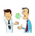 bad breath cartoo vector image vector image