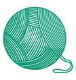 ball of wool icon vector image vector image