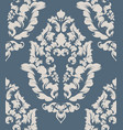 baroque texture pattern floral ornament vector image vector image