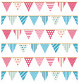 bunting seamless pattern vector image vector image