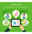 Cleaning Online Application Concept vector image vector image