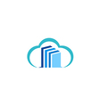 cloud data technology logo vector image vector image