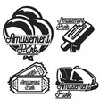 color vintage amusement park emblems vector image